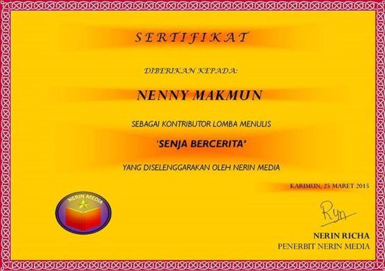 134.sertifikat senja bercerita_nerin media publisher