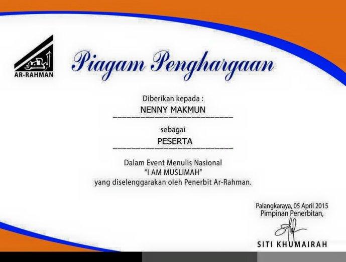 137.sertifikat_i am muslmah penerbit ar-rahman