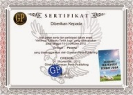sertifikat akhirnya tulisanku terbit juga