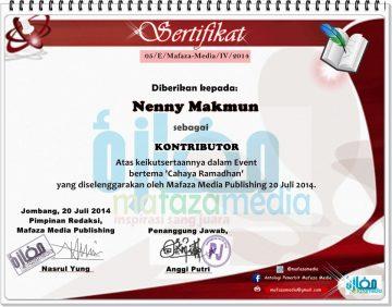 sertifikat cahaya ramadhan