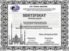 sertifikat cerpen islam pena house
