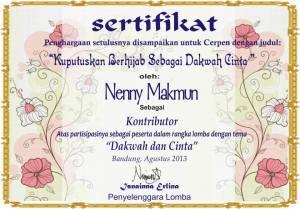 sertifikat dakwah dan cinta berhijab
