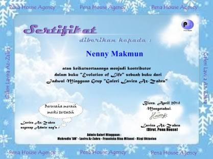 sertifikat evolution life