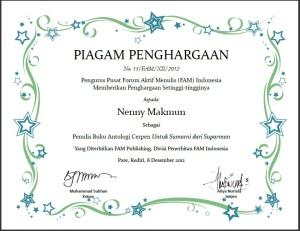 sertifikat fam suparmi dan suparman