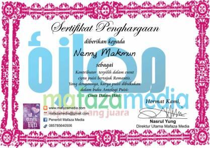 sertifikat from Mafaz Publishing