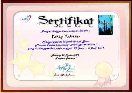 sertifikat hari besar islam