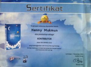 sertifikat journey