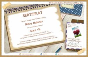 sertifikat juara
