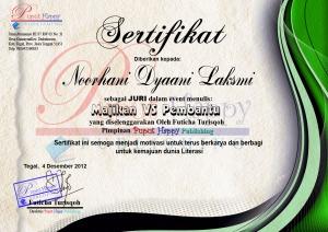 sertifikat juri pembantu vs majikan puput happy publishing