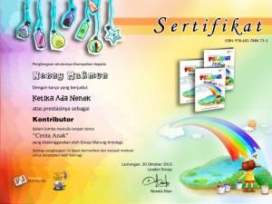 sertifikat ketika ada nenek