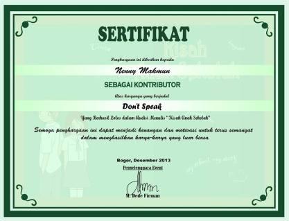 sertifikat kisak kasih sekolah