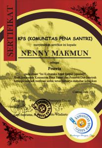 sertifikat kps
