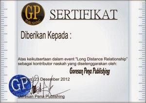 sertifikat long distance relationship
