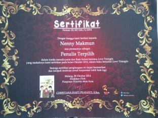 sertifikat love triangle
