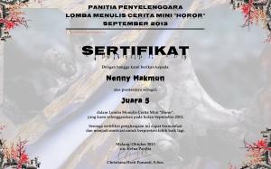 sertifikat meta kata_ff horor komedi juara 5