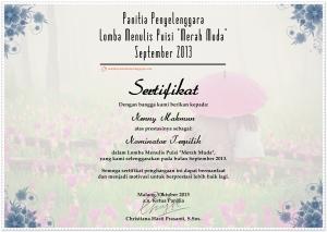 sertifikat meta kata_puisi merah muda