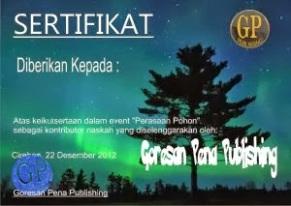 sertifikat perasaan pohon