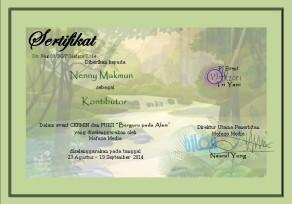 sertifikat puisi alam mafaz media