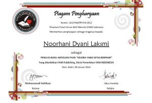 sertifikat puisi kejora fam