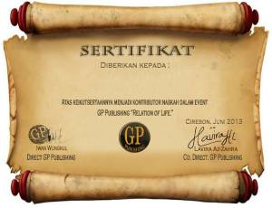 sertifikat relation of life
