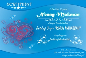 sertifikat rindu ramadhan