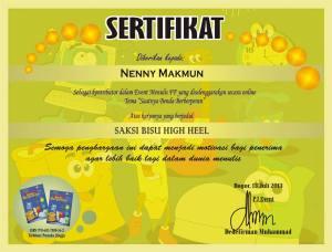 sertifikat saat benda berperan