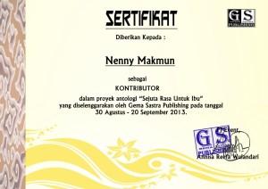 sertifikat sejuta rasa untuk ibu