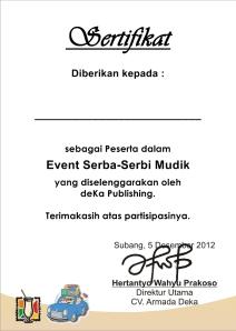 Sertifikat SSM 2012 (Asli)