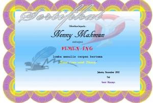 sertifikat surat untuk dhani