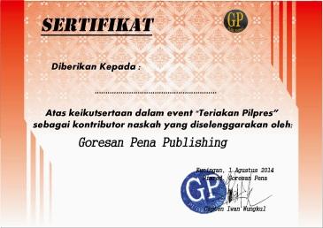 sertifikat teriakan pilpers