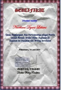sertifikat wr artikel