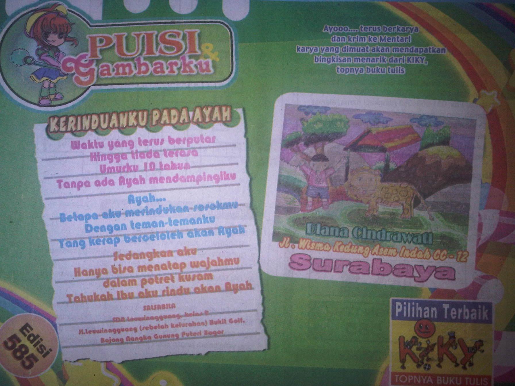 Dimuat majalah mentari – majalah anak indonesia mei 2011