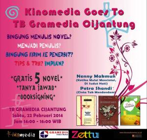 kinomedia goes to gramedia cijantung
